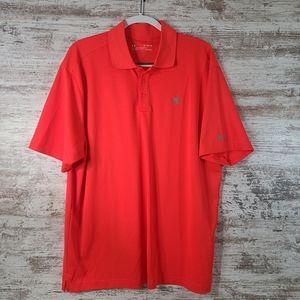 Men's Under Armour Golf polo bright orange XL